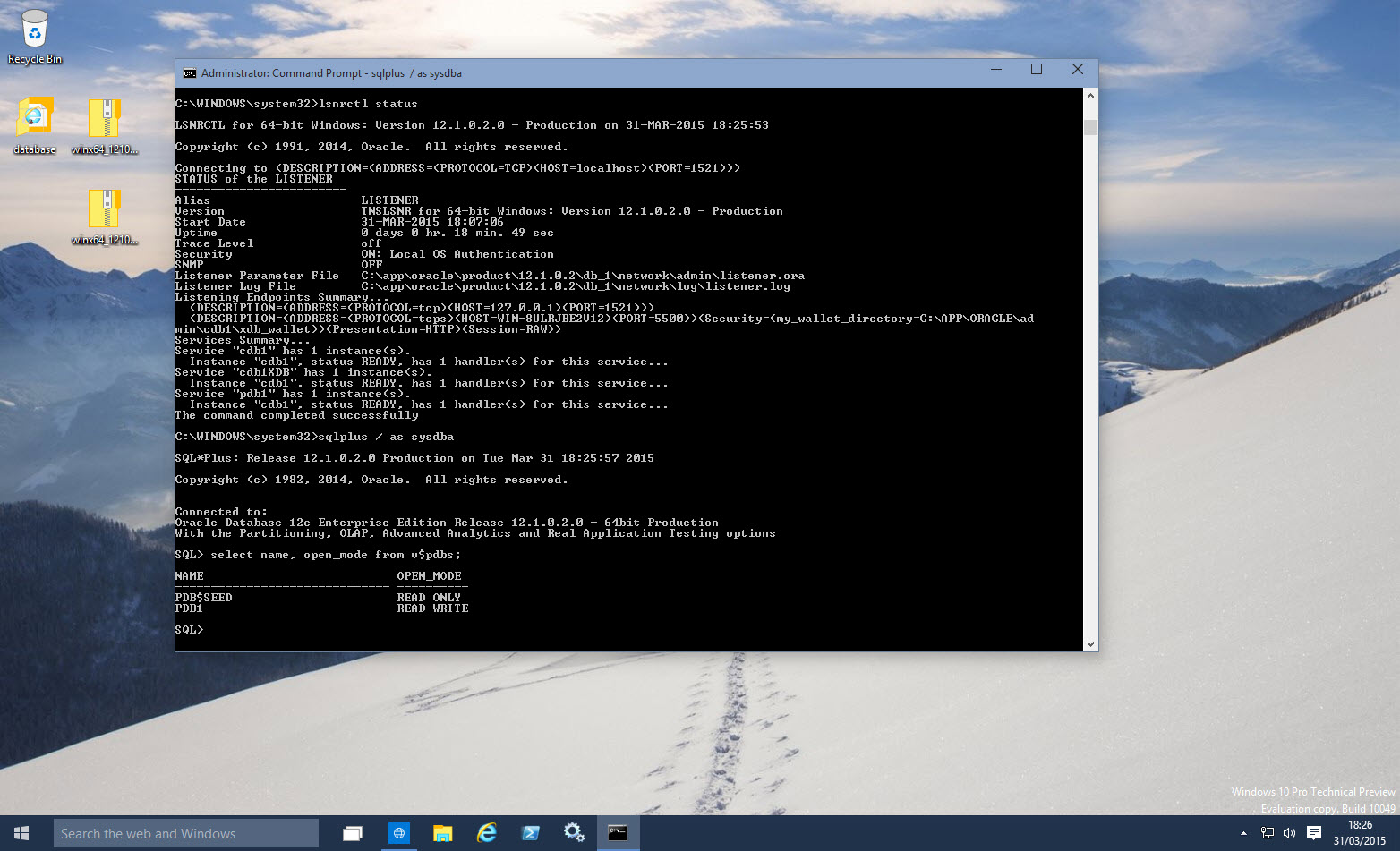Windows10Oracle12c