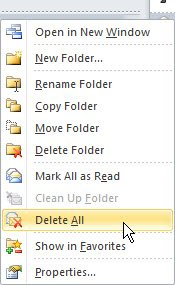 how to clean content menu in microsoft outlook